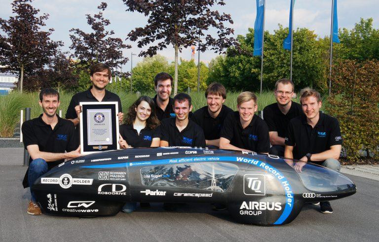 Weltrekordhalter! Das TUfast Eco Team ©TUfast